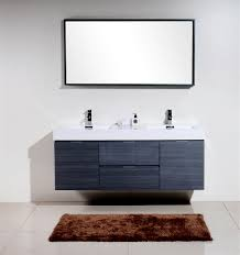 gray oak mount double sink modern bathroom vanity