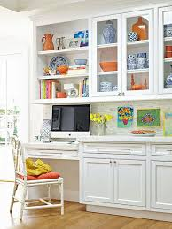kitchen office desk. add color to white kitchen desk office d