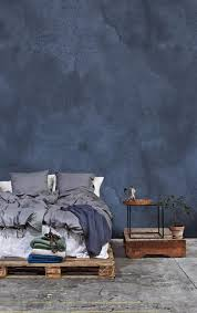 Genial Unglaubliche Dekoration Blaue Tapeten Schlafzimmer Denim