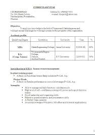 Amazing Resume For Inplant Training Ideas - Simple resume Office .