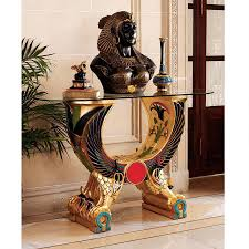 Design Toscano Egyptian Wings Of Horus Grand Altar Console Table Egyptian Wings Of Horus Altar Grand Console In 2019