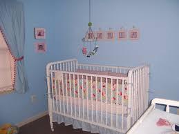 nursery with white furniture. elegant baby boy nursery interior design ideas wth blue colored wall with white furniture such as the cot drawers table e
