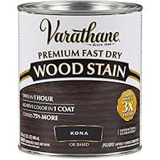 rust oleum 262010 varathane fast dry wood stain quart kona