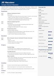 Computer Science Resume Sample Examples And 25 Writing Tips