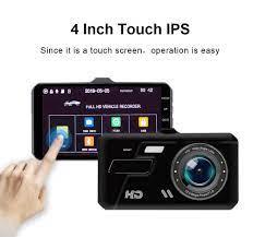 Camera Hành Trình Dual Lens Màn Hình Cảm Ứng V10 Full HD 1080P+ Thẻ Nhớ  16GB   Camera hành trình ô tô