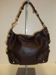 COACH 10615 Chocolate Brown Leather Carly Medium Hobo Shoulder Handbag Coach  Handbags, Shoulder Handbags,