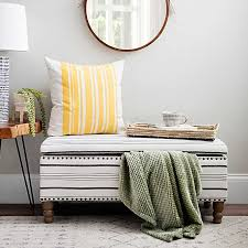 <b>Black</b> and White Striped <b>Storage Bench</b> | Kirklands