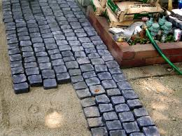 how to install a cobblestone patio on