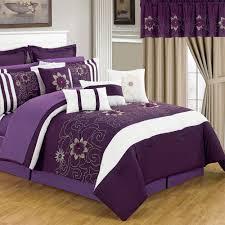 lavish home amanda purple 25 piece king comforter set