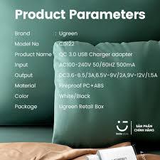 Củ Sạc Nhanh UGREEN QC 3.0 18W Chất Lượng Cao Hỗ Trợ QC 3.0 Dành Cho  Samsung Xiaomi Oppo Realme Vsmart Và Máy Tính Bảng - Adapter - Củ Sạc