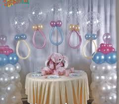 Torres De Globos Decoración Para Baby Shower  Babies Baby Ideas Para Un Baby Shower De Nino
