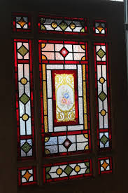 pitch pine victorian stained glass door