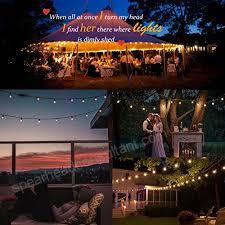guddl globe string lights outdoor indoor vintage edison lights for wedding party garden patio bistro