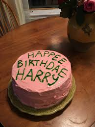 Homemade Harry Potter Birthday Cake Lemon Cake W Strawberries