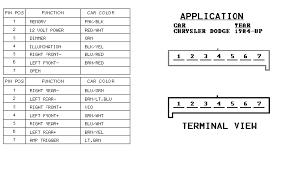 84 01 chrysler radio wiring turbo dodge forums turbo dodge radio wiring for all 84 01 chryslers