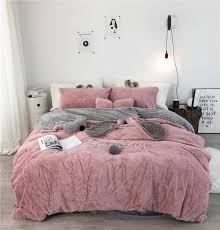 white grey pink fleece fabric duvet cover pillowcase bed sheet cartoon boy girls bedding sets 3 single double bedlinen twin bedding sets egyptian cotton