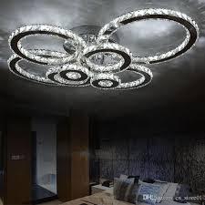 modern led crystal chandelier light