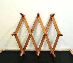 expanding peg rack vintage wooden accordion peg rack coat rack wall by accordion peg rack target