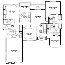 one story house plans various four bedroom one story house plans fancy idea custom house plans