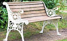 wood and iron benches small wood and wrought iron garden benches