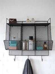wire wall basket shelf flower decor with rod