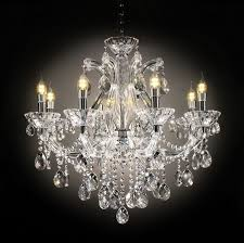 l9724h silver finish metal and clear acrylic hanging glass crystal chandelier hanging lamp
