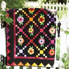 Fiesta: Floral Rainbow Appliqué Lap Quilt Pattern & Flower Fiesta: Floral Rainbow Appliqué Lap Quilt Pattern Adamdwight.com