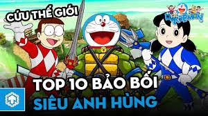 Top 10 Bảo Bối SIÊU ANH HÙNG | Doraemon