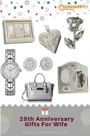 gifts favors exciting the best silver 25th wedding anniversary gifts for wife hahappy gift