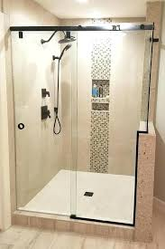 glass doors for showers sliding shower door slider notch knee wall remove bathtub replacement parts
