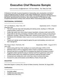 Chef Cv Template Downloadable Chef Resume Samples Writing Tips Rc