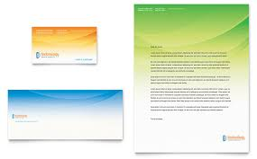 Computer It Services Business Card Letterhead Template Design