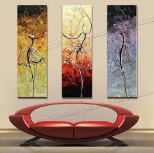 3 panel paintings 100 handmade high quality home decor ballet dancer oil painting canvas