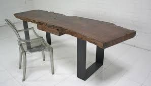 industrial modern furniture. Industrial Modern Walnut Slab Desk Furniture