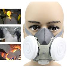 anti dust respirator gas safety half face mask dual filter chemical spray painting tool cod