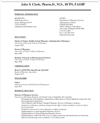9 Pharmacist Curriculum Vitae Templates Pdf Doc Free