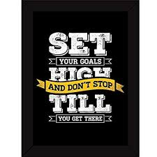 office inspirational posters. Fatmug Synthetic Set High Goals Inspirational Posters Quotes Hangings With Frames For Home Room Decor And Office