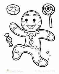 Gingerbread Man Coloring Page Gingerbread Gingerbread Man