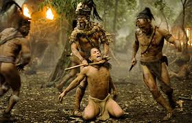 "mel gibson s ""apocalypto "" the filmist speaking of which to go off on a tangent for a second if you ll allow me what is it gibson and his strange almost fetishistic obsession"