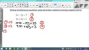 mechanical electrical large size solving simultaneous linear equations by elimination method hard doerr electric