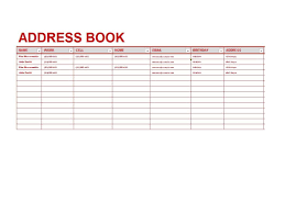 Address Book Template Free 40 Printable Editable Address Book Templates 101 Free