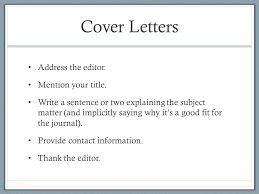 How To Write A Cover Letter For A Journal Cover Letter For Journal Submission Taylor And Francis