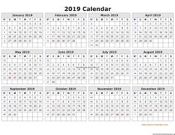 Free Printable Calendar 2019 Free Printables