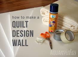 How To Make A Quilt Design Wall For Your Sewing Room or Home ... & A design wall is a fabulous tool for quilters as it lets you step back from  your work and view your quilt on a single plane. You can audition fabrics,  ... Adamdwight.com