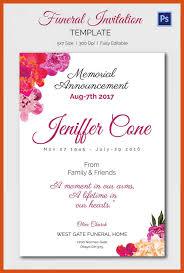 Memorial Service Invitation Template Amazing Funeral Invitation Template Memorial Invitation Card Template