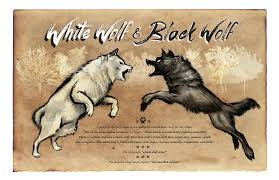 white wolf and black wolf fighting. Contemporary Wolf Wolf Painting  White Black By Christopher Panza On And Fighting