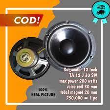 Speaker Subwoofer 12 Inch TA 12 J 30 SW // Spiker Subwofer Sab 12