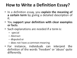 how to write a definition essay co how to write a definition essay
