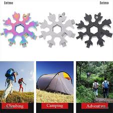 (Eetmo) <b>Portable</b> 18-In-1 <b>Mini Snowflake</b> Multi-Tool Combination ...