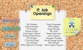Jobs For It Specialists | Job Openings For It Job Hunters